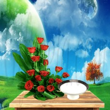 Red Roses Bouquet For Dear One