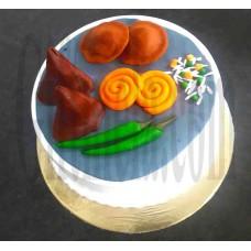 2 KG Evening Snack Design Cake- Swiss Bakery