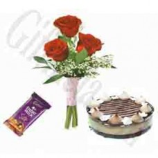 Chocolate and Roses Love Combo