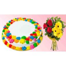 Vanilla Cake With Love Combo