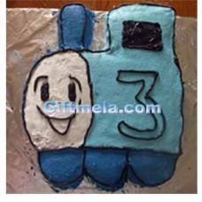2 Kg Vanilla flavored Train Cake