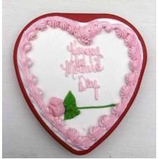 Vanilla Flavor Heart Shape Cake(1Kg) - Purbani