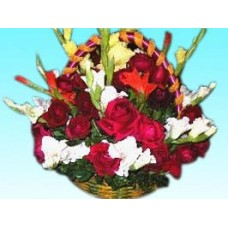 Mixed Flowers with Orchids For Valentine's Day