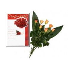 Love card with 10 roses for your Love one