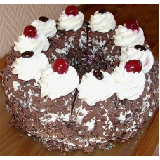 Black White Forest mix Cake (2Kg)-Yummy Yummy Bangladesh