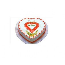 Vanilla Flavor Love Shape Cake(1Kg)