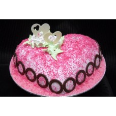 Special Strawberry Valentine Cake