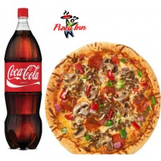 Hot & Spicy Grilled Chicken Pizza & Soft Drinks