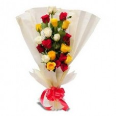 Bunch of 12 Mix Colour Roses