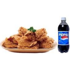KFC- 4 Pcs Crispy Chicken W/ 1 Liter Pepsi