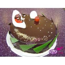 Chocolate Coating Round Shape Cake(1KG)-King's Confectionery