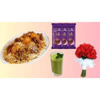 Father's Day Biriyani combo with chocolate and rose for 2 person