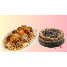 Father's Day Biriyani combo with sweets and borhani