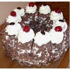 Black White Forest mix Cake (2Kg)-Yummy Yummy Bangladesh