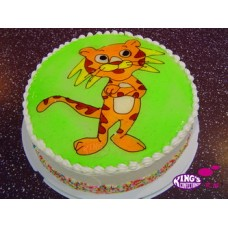 2 Kg Tiger Cartoon Piping Jelly Cake