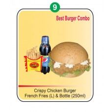BFC Chicken burger with cheese combo